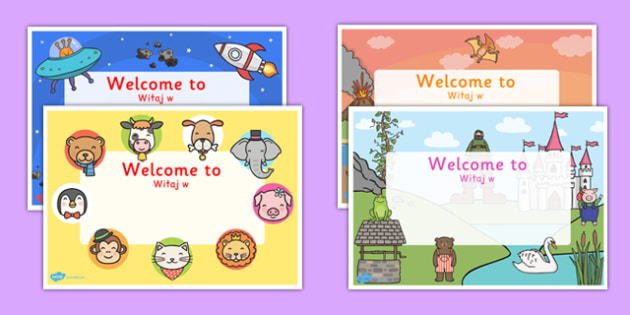 Editable Welcome Signs Polish Translation - polish, editable, welcome signs, welcome, signs