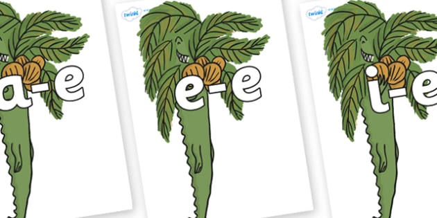 Modifying E Letters on Trick One to Support Teaching on The Enormous Crocodile - Modifying E, letters, modify, Phase 5, Phase five, alternative spellings for phonemes, DfES letters and Sounds