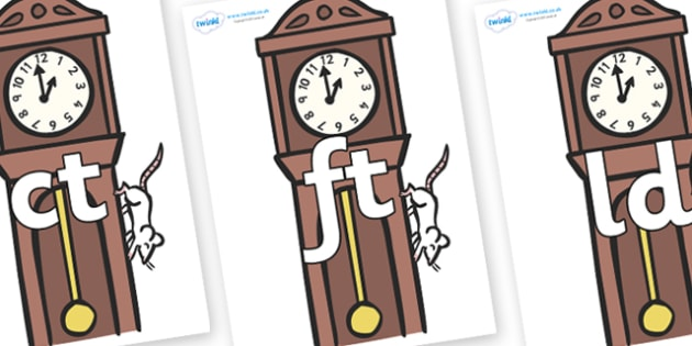 Final Letter Blends on Clocks - Final Letters, final letter, letter blend, letter blends, consonant, consonants, digraph, trigraph, literacy, alphabet, letters, foundation stage literacy