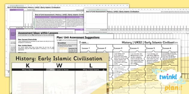 History: Early Islamic Civilisation UKS2 Unit Assessment Pack