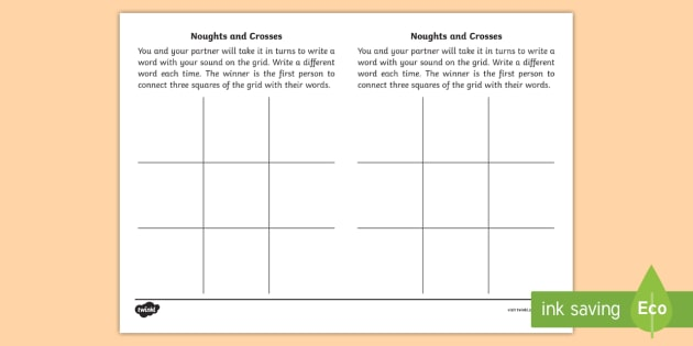 ay' Sound Noughts and Crosses Game - jolly phonics, phonics