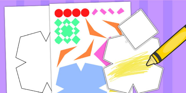 Rangoli Tessellation Shapes Jigsaw - rangoli, jigsaw, tessellate