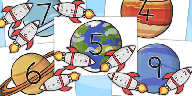 Space Themed Addition to 10 Activity - australia, addition, 10