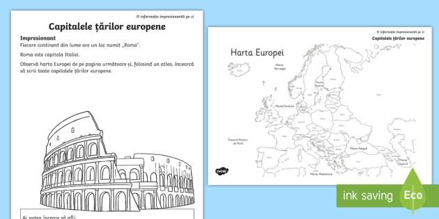 Capitalele țărilor Europene Fișă De Lucru Teacher Made