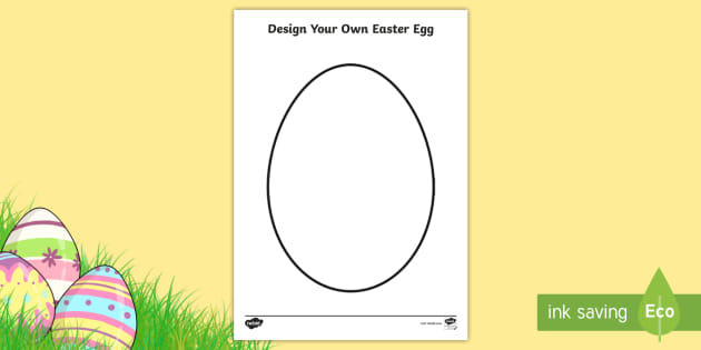 A4 Design An Easter Egg Worksheet