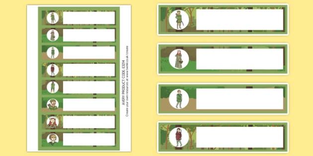 Robin Hood Editable Gratnells Tray Labels - robin, hood, labels