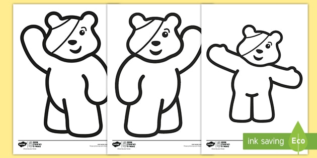 BBC Children in Need Colouring Pages