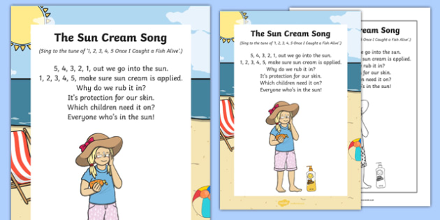 The Sun Cream Song