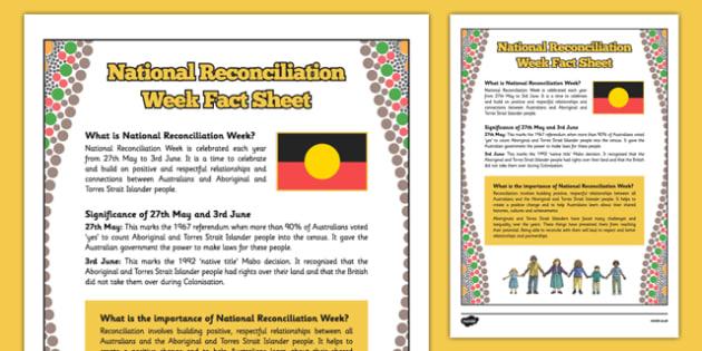 National Reconciliation Week Fact Sheet - australia, National Reconciliation Week, Fact Sheet, Reconciliation, information