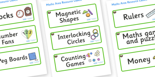 Conker Themed Editable Maths Area Resource Labels - Themed maths resource labels, maths area resources, Label template, Resource Label, Name Labels, Editable Labels, Drawer Labels, KS1 Labels, Foundation Labels, Foundation Stage Labels, Teaching Labe
