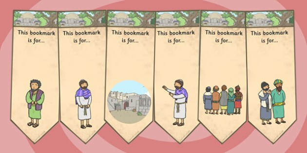 Zacchaeus the Tax Collector Bible Story Editable Bookmarks - edit