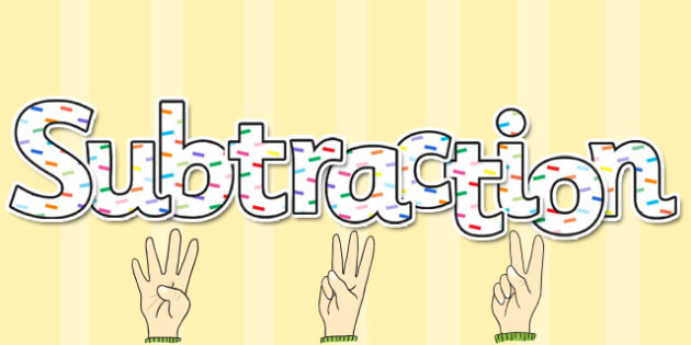Subtraction Display Lettering - subtraction, display, lettering