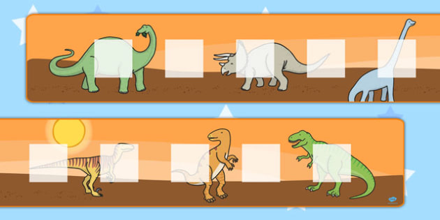 Large Dinosaur Theme Visual Timetable Display - dinosaur, timetable