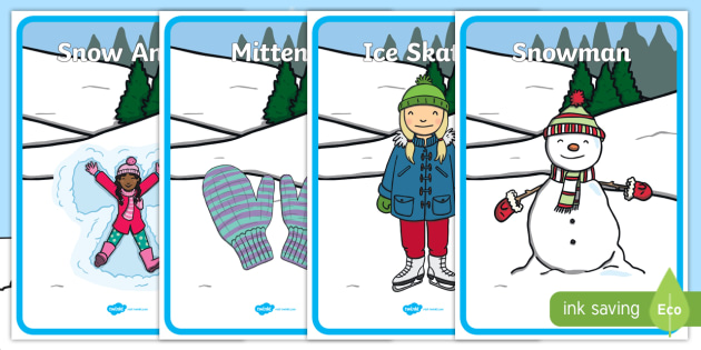 Winter Themed Four Corners Worksheet / Activity Sheets