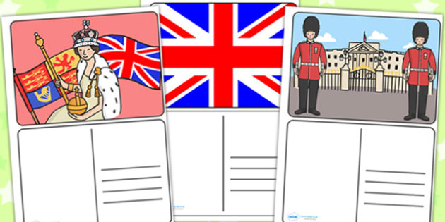 Royal Postcards - royal, royal family, postcards, royal family resources, cards, writing, Queen, Buckingham Palace