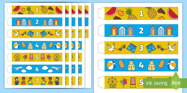 New Holiday Countdown Paper Chain Calendar Seaside Plane Trip