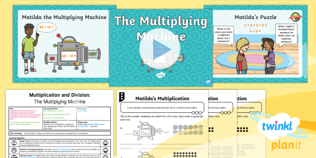PlanIt Maths Y2 Multiplication and Division Lesson Pack Calculate Mathematical Statements (1) - Multiplication and Division, repeated addition, equal groups, times, lots of, reasoning, fluency, ca
