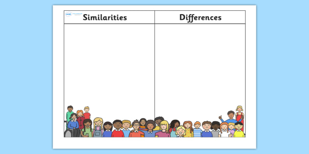 similarities and differences table similarities differences