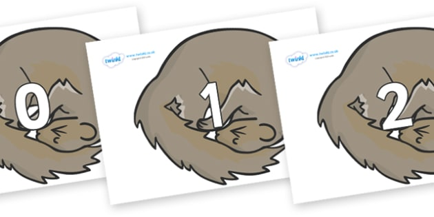 Numbers 0-100 on Grey Squirrels - 0-100, foundation stage numeracy, Number recognition, Number flashcards, counting, number frieze, Display numbers, number posters