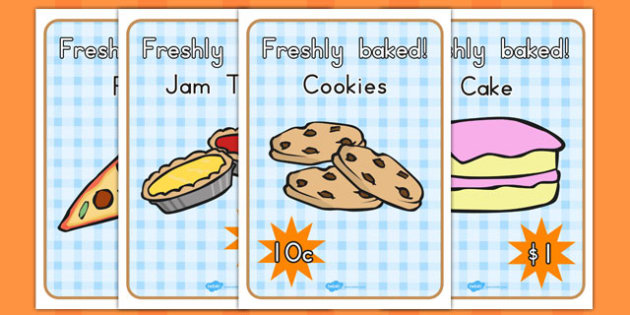 Bakery Role Play Posters - australia, bakery, role-play, poster