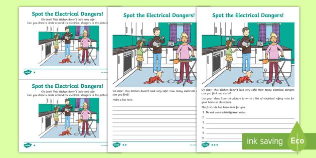 Ks1 Electrical Dangers Worksheet Teacher Made