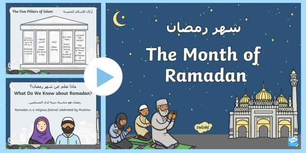 new ks1 the month of ramadan powerpoint arabicenglish