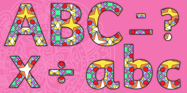 Diwali Rangoli Pattern A4 Display Lettering - diwali rangoli, pattern, A4, display lettering, lettering, diwali rangoli lettering, lettering for display, divali, divalli