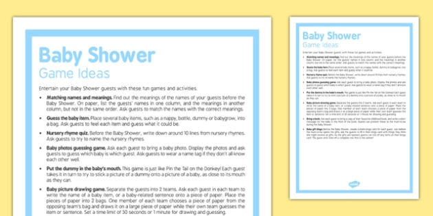 Baby Shower Games Ideas - Baby shower, games, party, baby, ideas