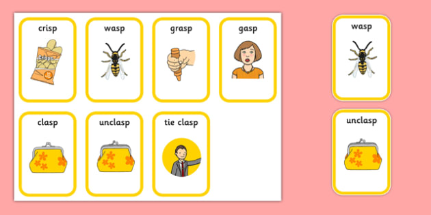 Word Final SP Playing Cards - speech sounds, phonology, articulation, speech therapy, cluster reduction