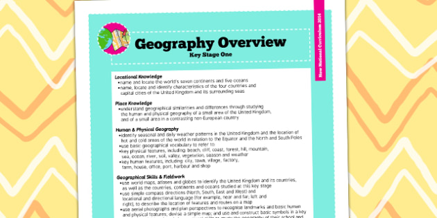 2014 National Curriculum KS1 Geography Overview - new curriculum, plans