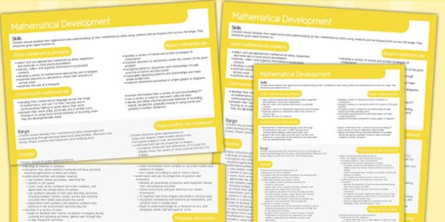 Welsh Curriculum Foundation Mathematical Development Overview