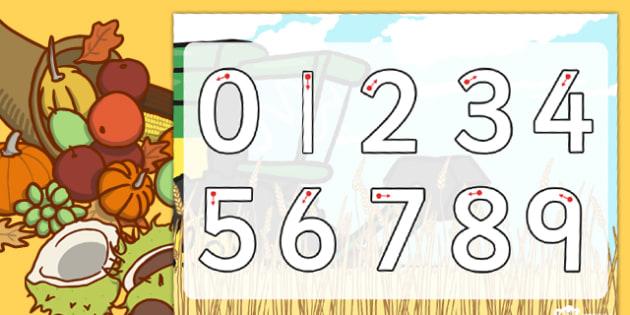 Harvest Number Formation Worksheet - harvest, number, worksheet, overwriting