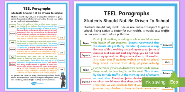new   teel paragraph example a4 display poster
