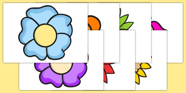 Flower Cut Outs - flower, cut outs, activity, cut, stick, glue, plants, plants and growth, flowers