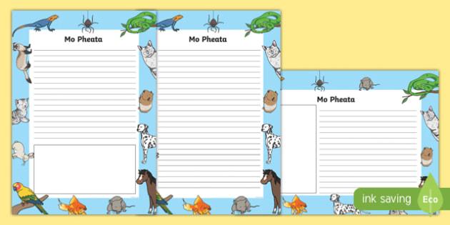 Mo Pheata Activity Sheet-Irish