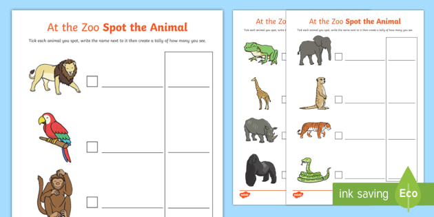 Zoo Trip Spot the Animal - zoo, trip, spot the animal, activity