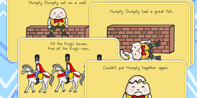 Humpty Dumpty Story Sequencing A4 - nursery, rhyme, stories