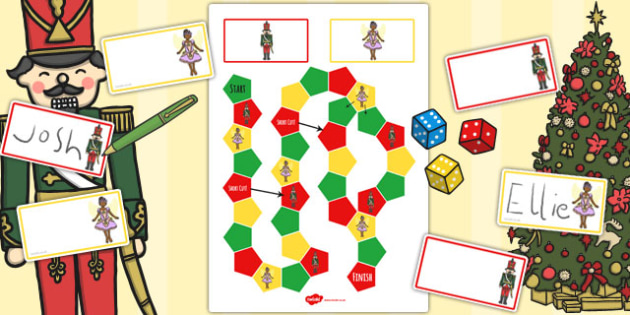 The Nutcracker Themed Editable Board Game - nutcracker, game