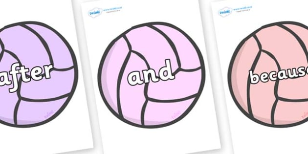 Connectives on Balls - Connectives, VCOP, connective resources, connectives display words, connective displays