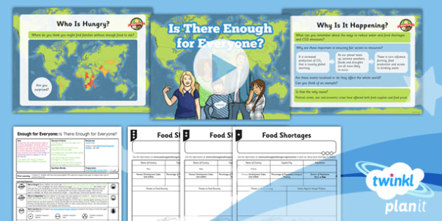 Geography: Enough for Everyone: Is There Enough? Year 5 Lesson Pack 6