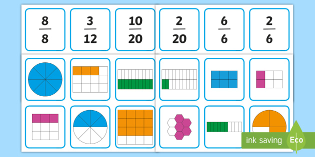 graphic about Fraction Cards Printable identify Fractions Matching Playing cards - fractions, matching playing cards