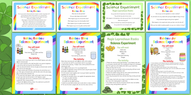 EYFS St. Patrick's Day Themed Science Experiements Resource Pack - science, early years, Ireland, investigation, provision