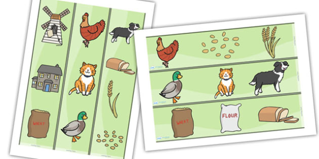 Little Red Hen Display Borders -  Little Red Hen, display border, classroom border, border, Traditional tales, tale, fairy tale, little red hen, cat, dog, horse, grain, wheat, flour, bread, no I, I will