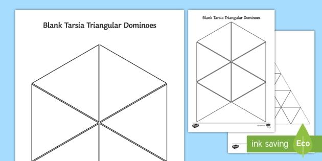 Blank Tarsia Triangular Dominoes Triominoes Triangles Triangle Shapes Tessellation Tessellate