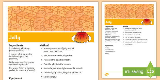Jelly Recipe - jelly recipe, poster, display, jelly, recipe