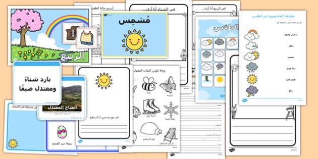 باقة نشاط عن الطقس - الطقس، نشاطات، وسائل تعليمية