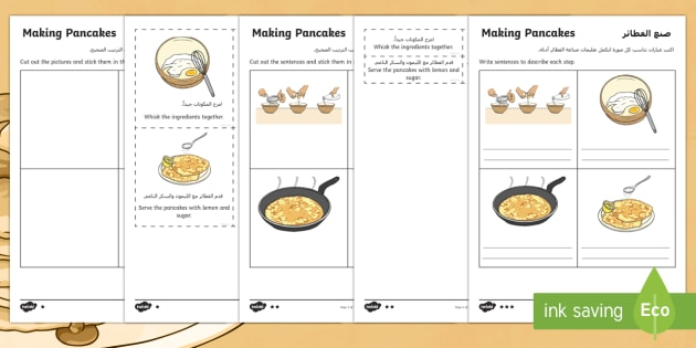 Pancake recipe instructions differentiated worksheet activity pancake recipe instructions differentiated worksheet activity sheets arabicenglish pancakes recipe ccuart Choice Image