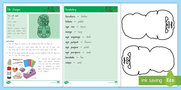 new tiki designs craft instructions craft maori symbol