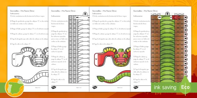Manualidad: Guirnalda de dragón - Año nuevo chino, anio nuevo