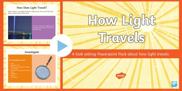How Light Travels Task Setter Powerpoint - how light travels, task setter, powerpoint, how light travels powerpoint, how light travels task setter